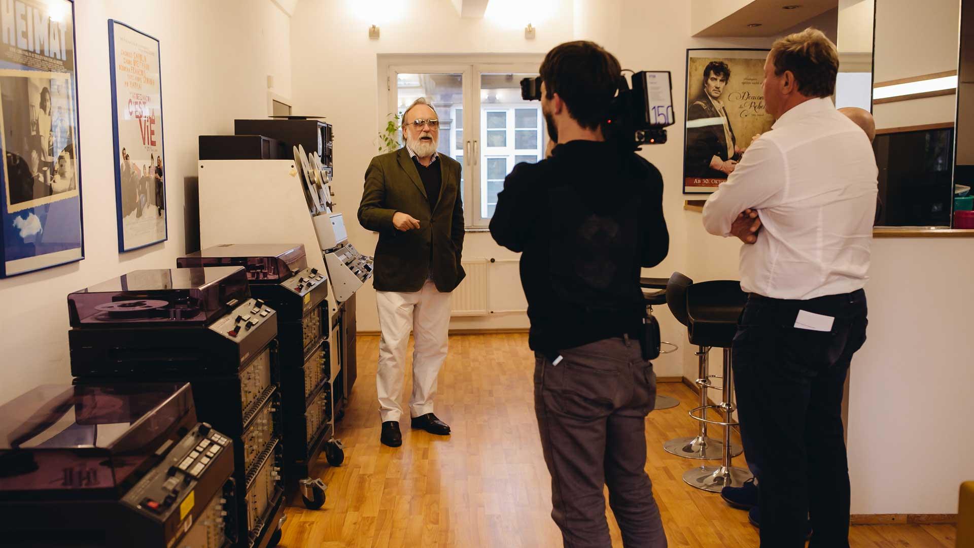 Friedrich Liechtenstein zum Interview im Studio Halle